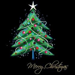 MERRY CHRISTMAS TREE SWIRL