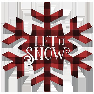 LET IT SNOW PLAID SNOWFLAKE