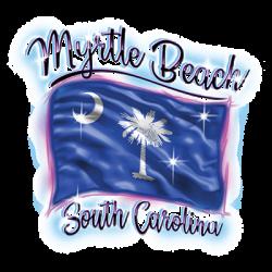 AIRBRUSH FLAG MYRTLE BEACH