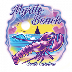 AIRBRUSH LOBSTER MYRTLE BEACH
