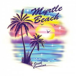 AIRBRUSH PALM TREES MYRTLE BEACH