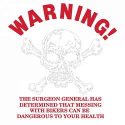 WARNING BIKER