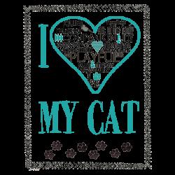 HEART MY CAT TEXT