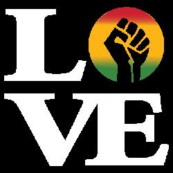 LOVE RAISED FIST