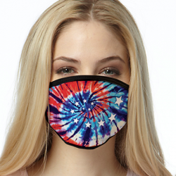 AMERICA TIE DYE MASK FACE MASKS