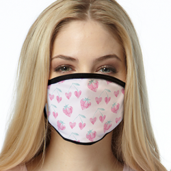 STRAWBERRY HEARTS ALL OVER PRINT MASKS