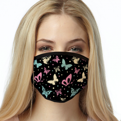 BUTTERFLY PATTERN MASK FACE MASKS