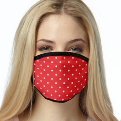 RED WHITE DOTS ALL OVER PRINT MASKS