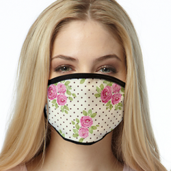 CHOCOLATE ROSES ALL OVER PRINT MASKS