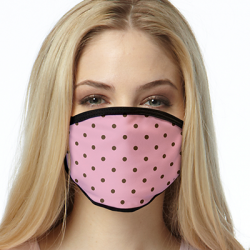 PINK BROWN DOTS ALL OVER PRINT MASKS