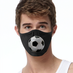 3D SOCCER BALL FACE MASKS