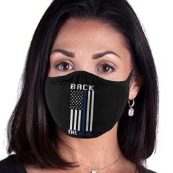 BACK THE BLUE FACE MASKS
