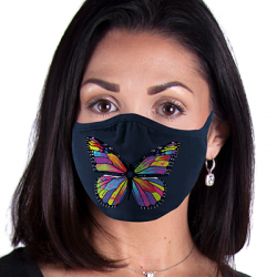 COLORFUL BUTTERFLY 2 FACE MASKS