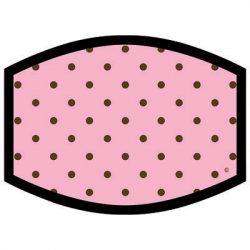 PINK BROWN DOTS DYETRANS MASK TRANSFERS