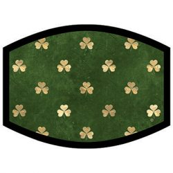 DISTRESSED GOLD SHAMROCKS DYETRANS MASK TRANSFERS