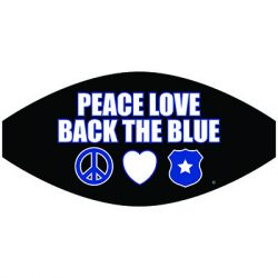 PEACE LOVE BACK THE BLUE MASK TRANSFERS