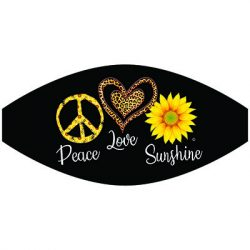 PEACE LOVE SUNSHINE MASK TRANSFERS