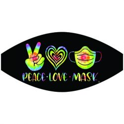 PEACE LOVE MASK MASK TRANSFERS